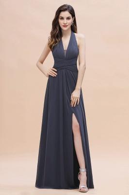 Brautjungfernkleider Günstig Kaufen   Chiffon Kleider Grau_1