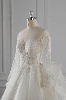 Brautkleider Lang Ärmel | Hochzeitskleid Spitze_6