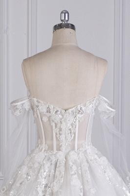 Ausgefallene Hochzeitskleider Lange Ärmel   Brautkleid mit Spitze_6