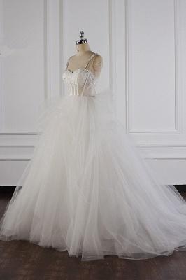 Tüll Brautkleider Lange Ärmel | Standesamt Hochzeitskleid_4