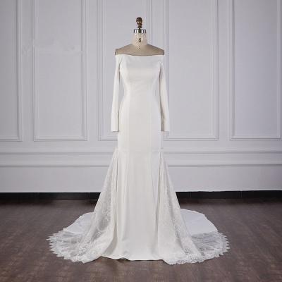 Bohemian Hochzeitskleid Langarm | Brautkleid Meerjungfrau_1