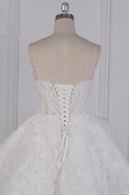Hochzeitskleid A Linie | Brautkleid Vorne Kruz Lange Hinter_7