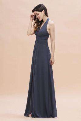 Brautjungfernkleider Günstig Kaufen   Chiffon Kleider Grau_5