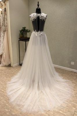 Brautmode Große Größen | Schlichte Hochzeitskleider V Ausschnitt_2