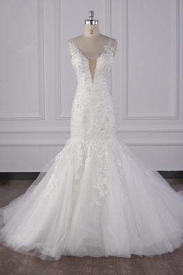 Wunderschöne Brautkleid Meerjungfrau   Hochzeitskleid Spitze Online_2
