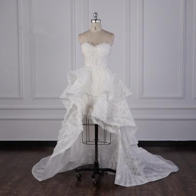 Hochzeitskleid A Linie | Brautkleid Vorne Kruz Lange Hinter_1