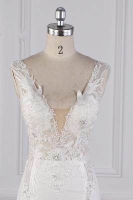 Schlichte Brautkleid Meerjungfrau | Hochzeitskleider Günstig Online_3