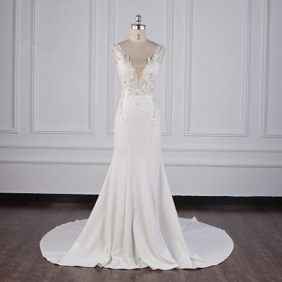 Schlichte Brautkleid Meerjungfrau | Hochzeitskleider Günstig Online_1