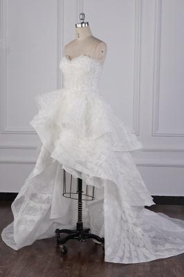 Hochzeitskleid A Linie | Brautkleid Vorne Kruz Lange Hinter_4