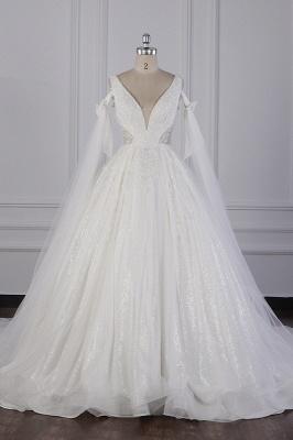 Prinzessin Brautkleider Lang Ärmel | Hochzeitskleider Spitze_2