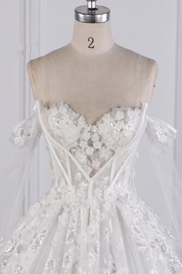 Ausgefallene Hochzeitskleider Lange Ärmel   Brautkleid mit Spitze_4