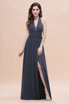 Brautjungfernkleider Günstig Kaufen   Chiffon Kleider Grau_4