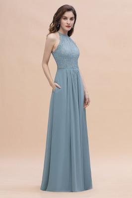 Brautjungfernkleider Lang Blau | Hochzeitspartykleider Günstig Kaufen_4