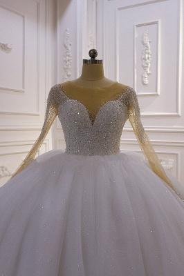 Hochzeitskleider Prinzessin Luxus   Hochzeitskleid Langarm Spitze_3