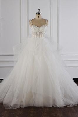 Tüll Brautkleider Lange Ärmel | Standesamt Hochzeitskleid_2