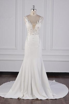 Schlichte Brautkleid Meerjungfrau | Hochzeitskleider Günstig Online_2