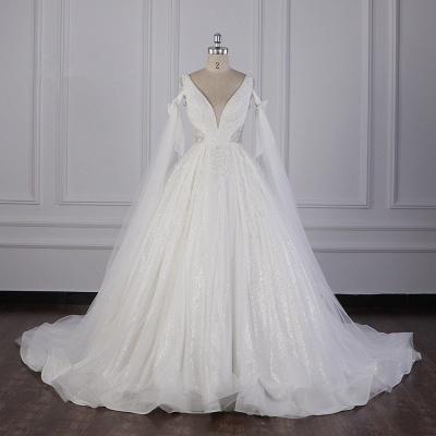 Prinzessin Brautkleider Lang Ärmel | Hochzeitskleider Spitze_1