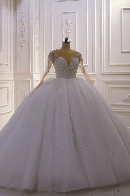 Hochzeitskleider Prinzessin Luxus   Hochzeitskleid Langarm Spitze_2