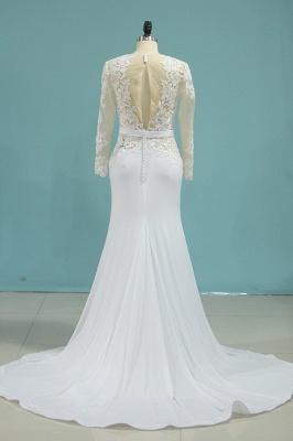 Umstands Hochzeitskleid Meerjungfrau   Hochzeitskleid Spitze Langarm_3