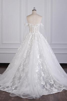 Ausgefallene Hochzeitskleider Lange Ärmel   Brautkleid mit Spitze_3