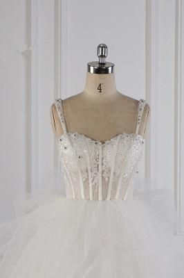Tüll Brautkleider Lange Ärmel | Standesamt Hochzeitskleid_3