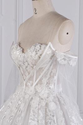 Ausgefallene Hochzeitskleider Lange Ärmel   Brautkleid mit Spitze_5