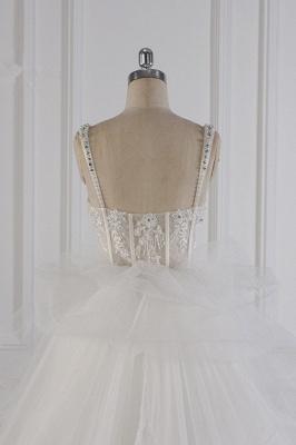 Tüll Brautkleider Lange Ärmel | Standesamt Hochzeitskleid_7
