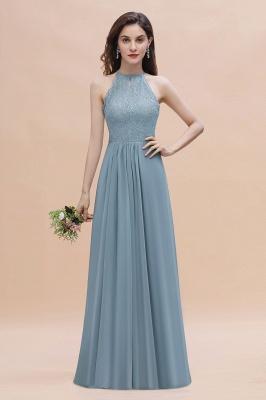 Brautjungfernkleider Lang Blau | Hochzeitspartykleider Günstig Kaufen_1