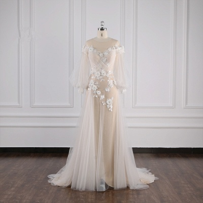 Hochzeitskleid Langarm Spitze | Brautkleider Online Kaufen_1