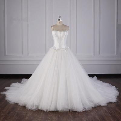 Hochzeitskleider Prinzessin Luxus   Tüll Brautkleid Umstandsmode_1