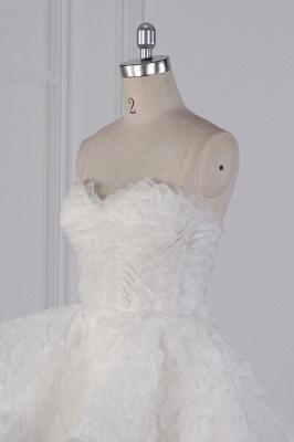 Hochzeitskleid A Linie | Brautkleid Vorne Kruz Lange Hinter_5