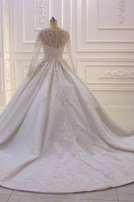 Standesamt Hochzeitskleid Lange Ärmel | Brautkleider Prinzessin_3