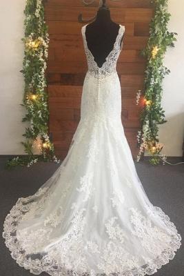 Brautkleid V Ausschnitt Spitze | Designer Hochzeitskleider_2