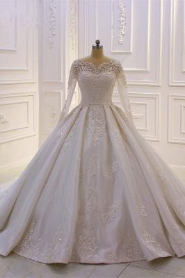Standesamt Hochzeitskleid Lange Ärmel | Brautkleider Prinzessin_2