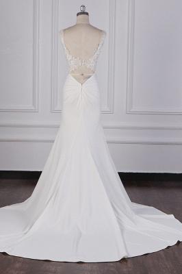 Schlichte Brautkleid Meerjungfrau | Hochzeitskleider Günstig Online_6
