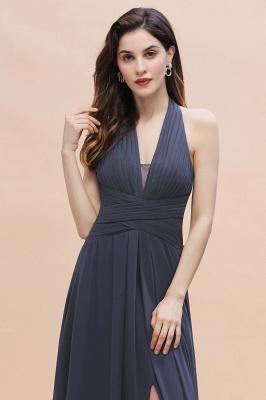 Brautjungfernkleider Günstig Kaufen   Chiffon Kleider Grau_9