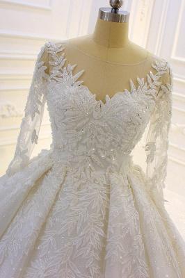 Hochzeitskleid Prinzessin Glitzer | Brautkleider Lange Ärmel_4