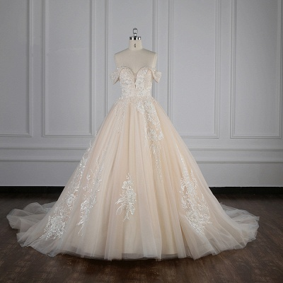 Elegante Brautkleider Prinzessin | Hochzeitskleid Lange Ärmel_1
