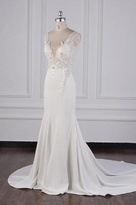 Schlichte Brautkleid Meerjungfrau | Hochzeitskleider Günstig Online_4