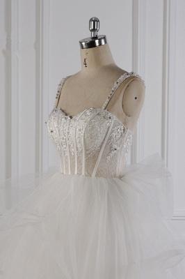 Tüll Brautkleider Lange Ärmel | Standesamt Hochzeitskleid_5