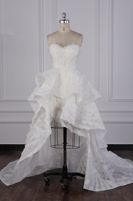 Hochzeitskleid A Linie | Brautkleid Vorne Kruz Lange Hinter_2