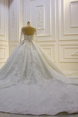 Hochzeitskleid Prinzessin Glitzer | Brautkleider Lange Ärmel_6