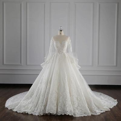 Brautkleider Lang Ärmel | Hochzeitskleid Spitze_1