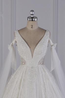 Prinzessin Brautkleider Lang Ärmel | Hochzeitskleider Spitze_3