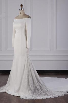 Bohemian Hochzeitskleid Langarm | Brautkleid Meerjungfrau_4