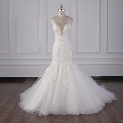 Wunderschöne Brautkleid Meerjungfrau   Hochzeitskleid Spitze Online_1