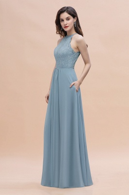 Brautjungfernkleider Lang Blau | Hochzeitspartykleider Günstig Kaufen_7