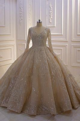 Extravagante Brautkleider Prinzessin | Hochzeitskleider mit Ärmel_1