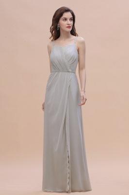 Grau Brautjungfernkleider Lang | Chiffon Kleider Für Brautjungfern_6