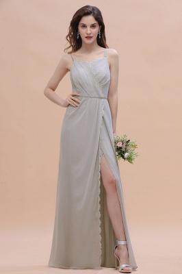 Grau Brautjungfernkleider Lang | Chiffon Kleider Für Brautjungfern_1